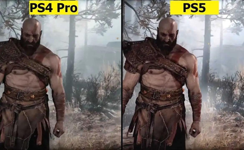god of war ps4 vs ps5