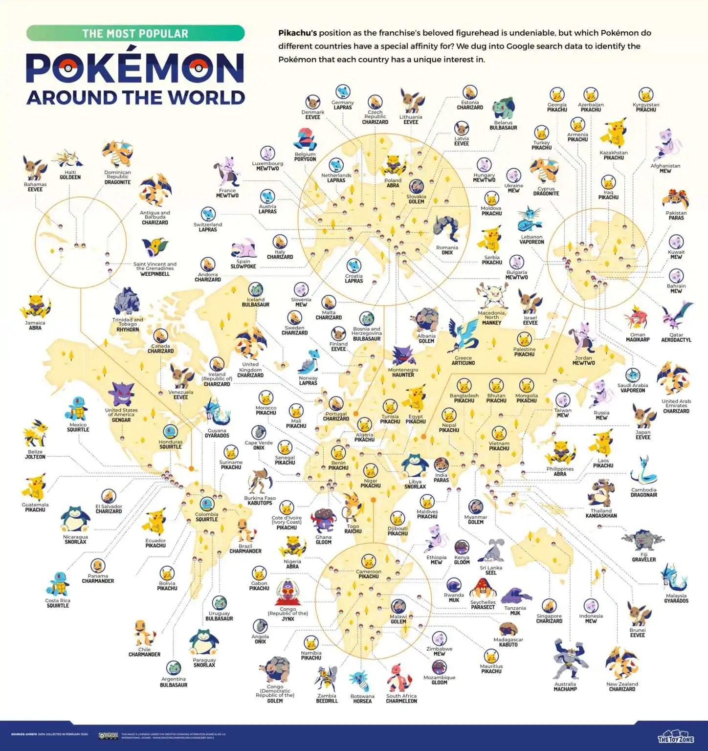 Estudo descobre o Pokémon favorito dos brasileiros