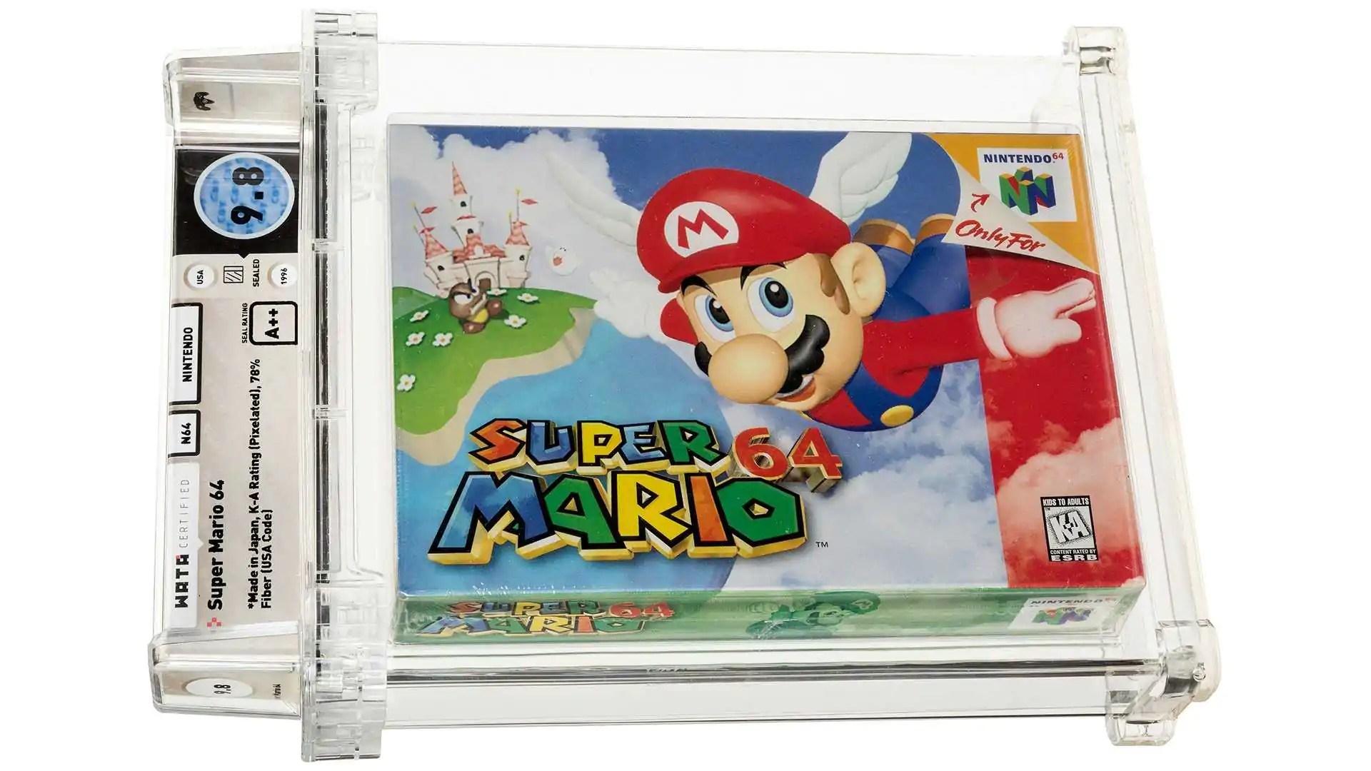 Cópia lacrada de Super Mario 64 é vendida por mais de US $ 1,5 milhão