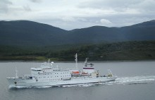 Embarcação de cruzeiros pela Terra do Fogo, Argentina