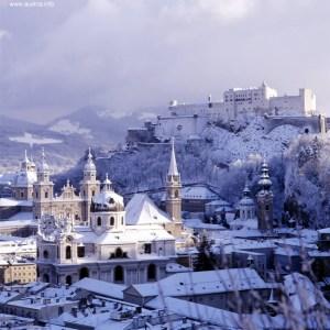 Inverno em Salzburgo, Áustria
