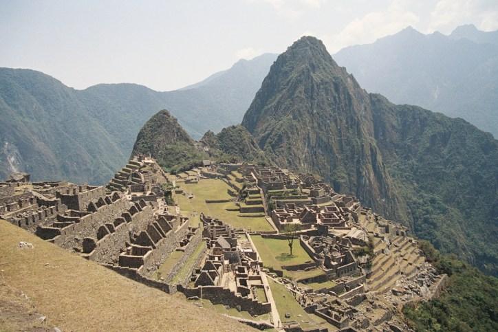 Vista panorâmica de Machu Picchu, Peru