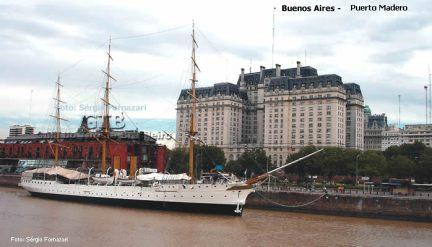 Navio do século XIX em Puerto Madeiro, Buenos Aires