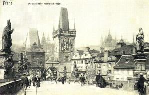 Praga, foto antiga, Porte Carlos