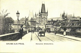 Praga, foto antiga da Cidade Nova