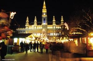 Viena, capital austríaca, à noite