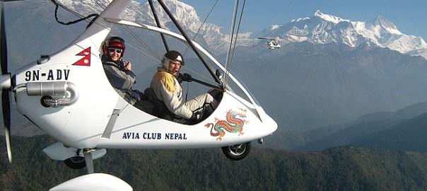 Power-paraglider, Pokhara, Nepal