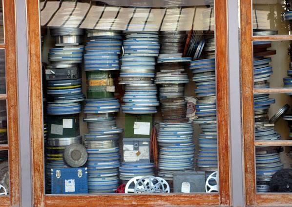 Bobinas de filme, Cinemateca Portuguesa, Lisboa, Morgaine