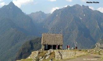 Casa incas em Machu Picchu, Peru