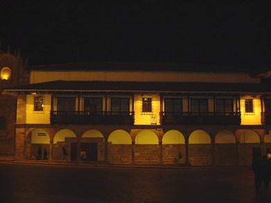Plaza de Armas de Cuscoà noite