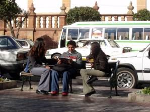 Estudantes em Sucre
