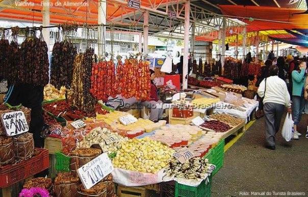 Frutos do mar, mercado de Valdívia