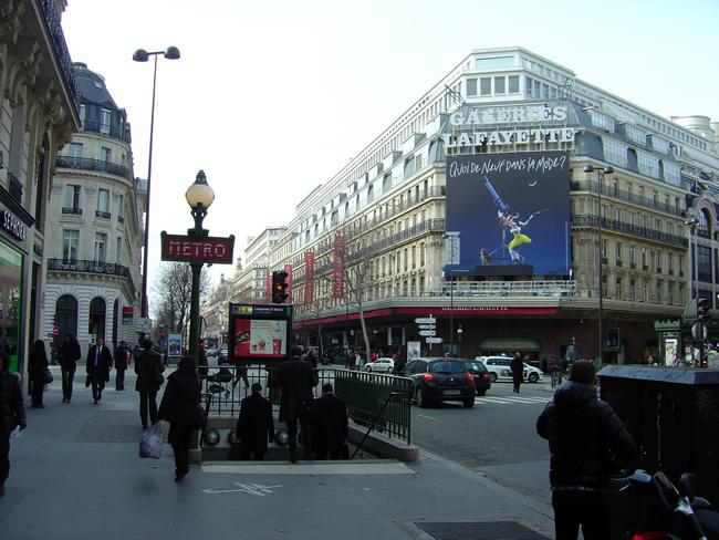 Galeries Lafayette nos Grands-Boulevards