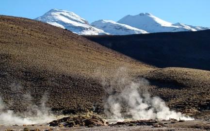Geiser no deserto do Atacama, no Chile