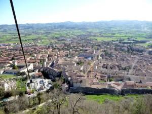 Gubbio, Itália, foto panorâmica