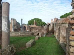 O sítio arqueológico de Ostia Antica, ao lado de Roma