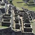 Panorâmica setor residencial de Machu Picchu, Peru