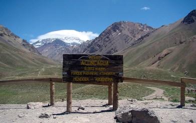 Parque Nacional de Aconcagua, na Provincia de Mendoza, Argentina