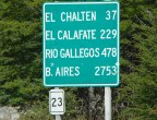 Chegando a El Chaltén