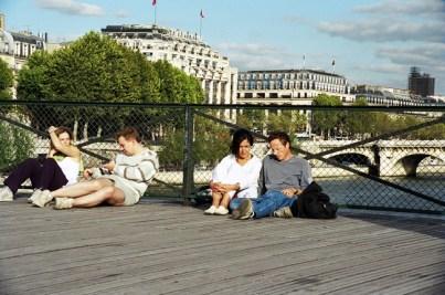 Pont des Arts, Paris, no verão