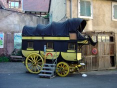 Riquewihr, antiga carruagem dos correios, Alsácia