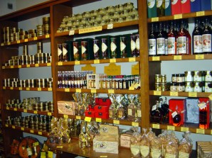Sarlat, lojas de produtos típicos deliciosos