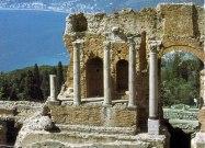 Ruínas romanas em Taormina