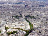 Vista de Paris, do alto da Tour Eiffel