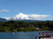 Vulcão e lago Villarrica