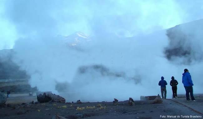 Geiseres no Atacama