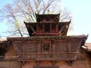 Arquitetura típica nepalesa em Katmandu