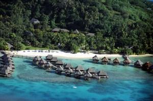 Bangalows em Bora Bora, Polinésia Francesa