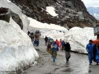 Nevasca no norte da Índia