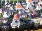 Casas nas escostas de Bergen, Noruega