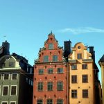 Casas no centro histórico, em Estocolmo