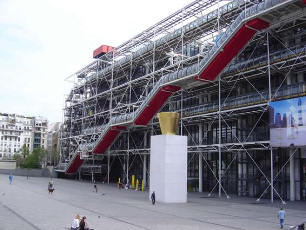 Centre Georges Pompidou, no Halles, Paris