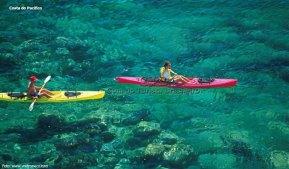 Caiaque, costa do Pacífico, México