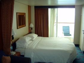 Cruzeiro marítimo, cabine com varanda