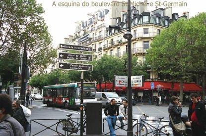 Esquina do Bd St Germain com Bd St-Michel