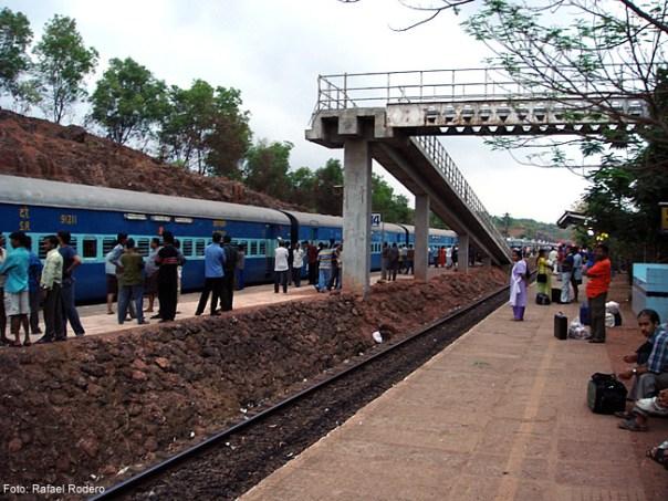 Estação de trem na Índia