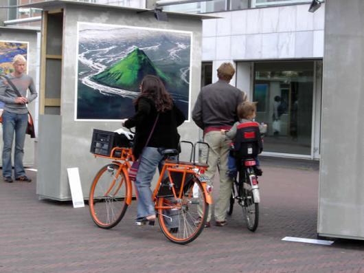Exposição ao ar livre em Amsterdã