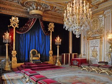 Fontainebleau, interior do castelo - Foto de Jean-Pierre Falbera