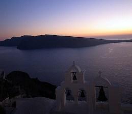 Entardecer em Santorini, Grécia
