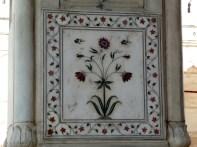 Incrustração de mármore e pedras, Red Fort, Delhi, Índia