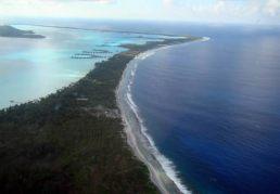 Laguna de Bora Bora, vista aérea
