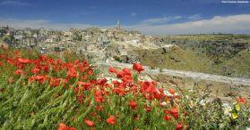 Matera, Italia, na primavera