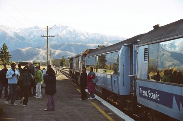 Nova Zelândia, trem
