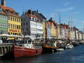 Dinamarca Copenhagem, nyhavn, o porto-novo
