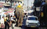 O trânsito confuso de Udaipur, Índia