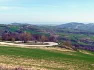 Paisagem rural no centro da Itália